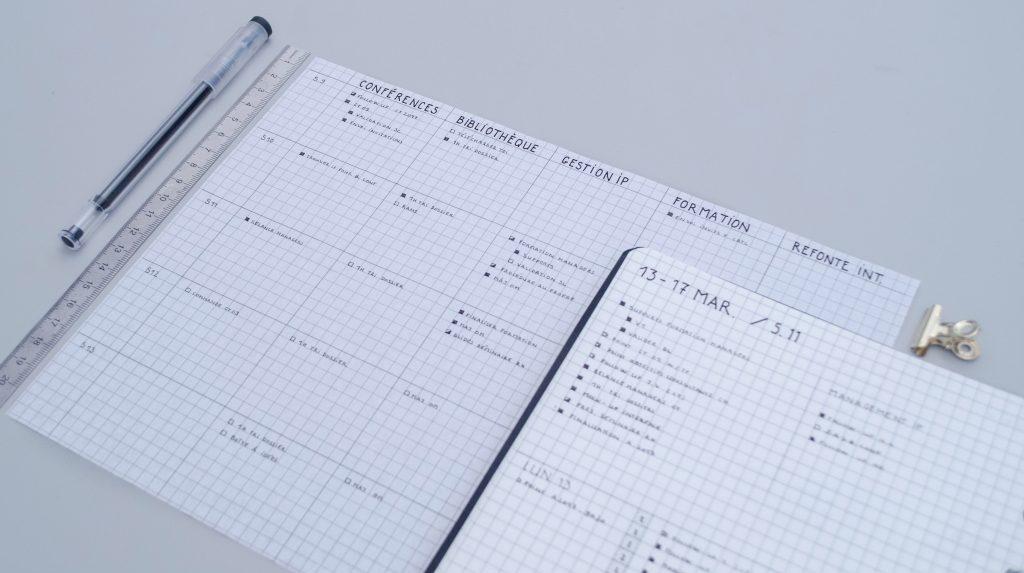 planning mensuel gestion de projet
