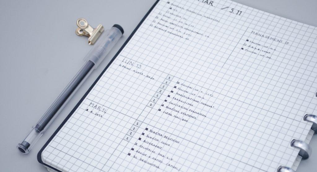 gestion de projets liste de tâches quotidienne