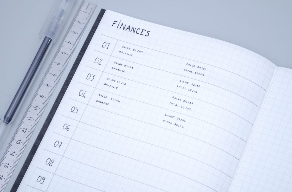 finances spread bullet journal collection