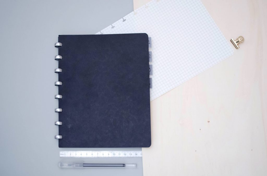 Atoma notebook as a work bullet journal, organizing notes in an Atoma notebook