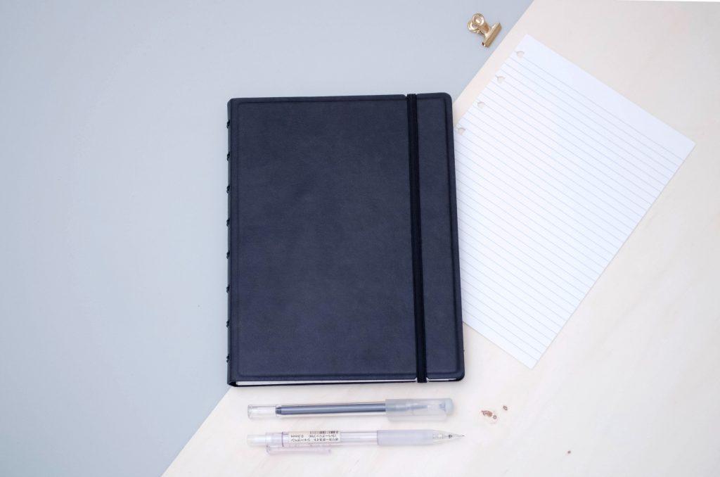 Filofax notebook for bullet journaling, work bullet journal