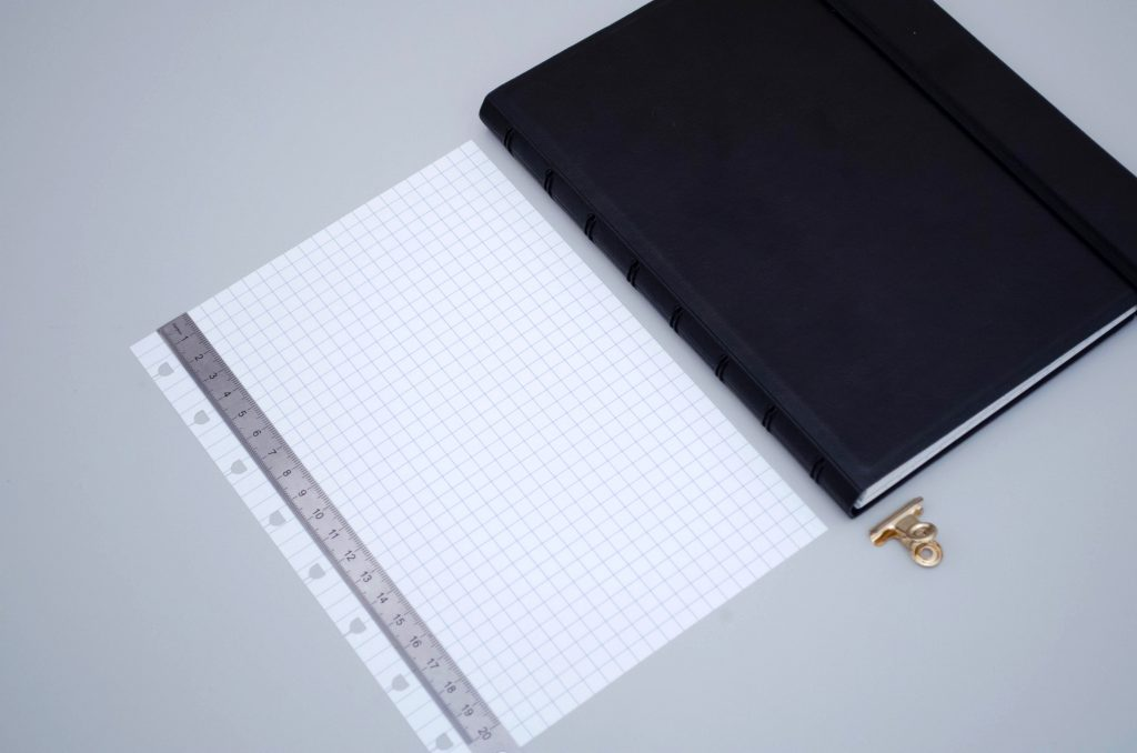 Filfax notebo refill, squared paper for filofax notebook