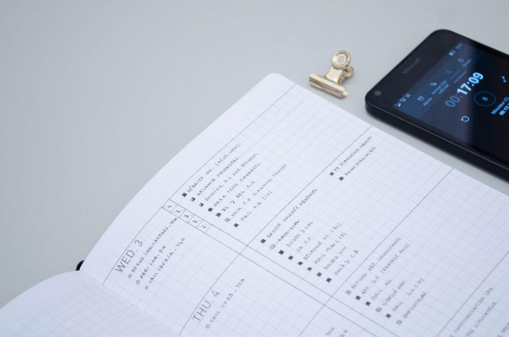 Utiliser la technique pomodoro dans le bullet journal pour augmenter sa productivité au travail