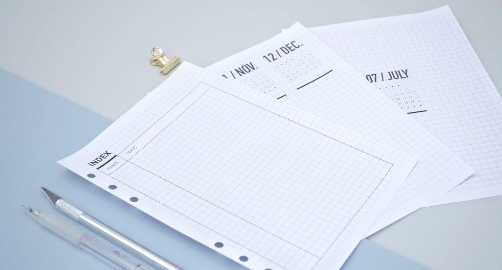 recharge bullet journal pour planner, fichiers à imprimer, fichiers gratuits pour bullet journal