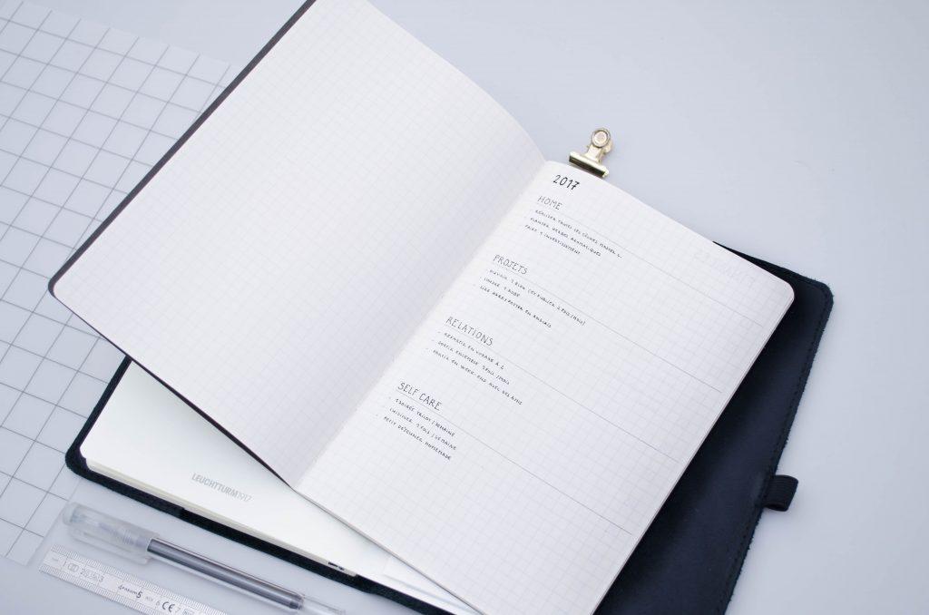système bullet journal plusieurs carnets