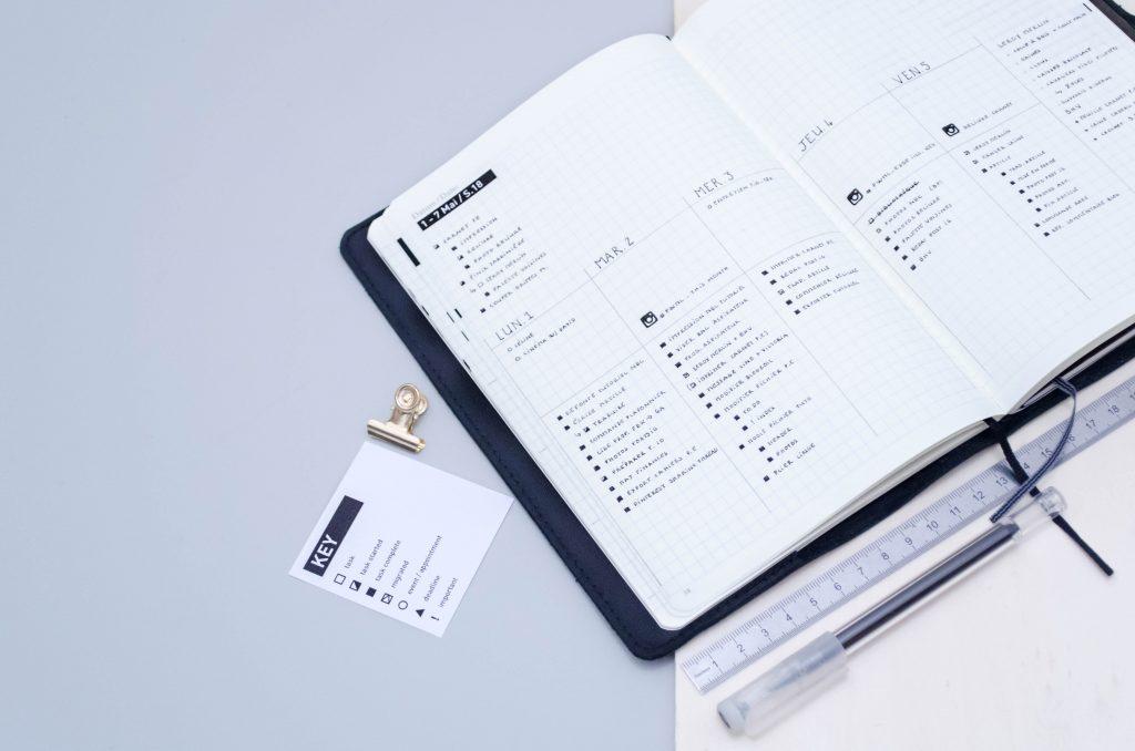 minimal bullet journal clés