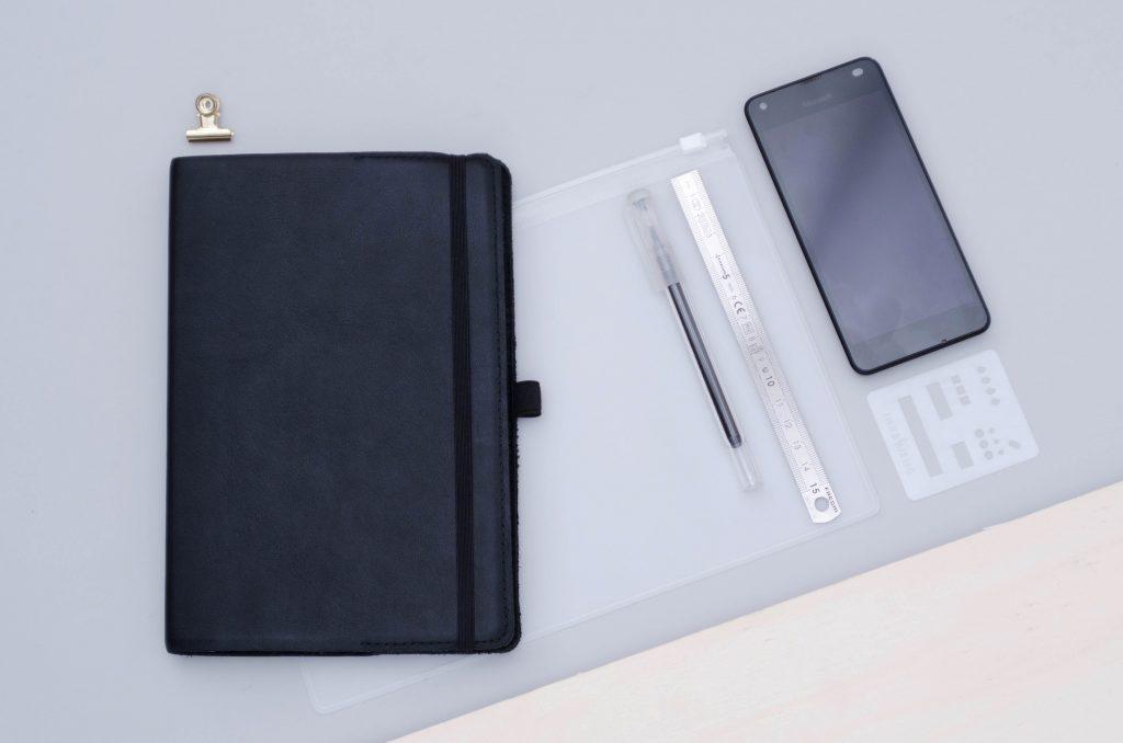 bullet journal minimaliste, matériel bullet journal, commencer bullet journal
