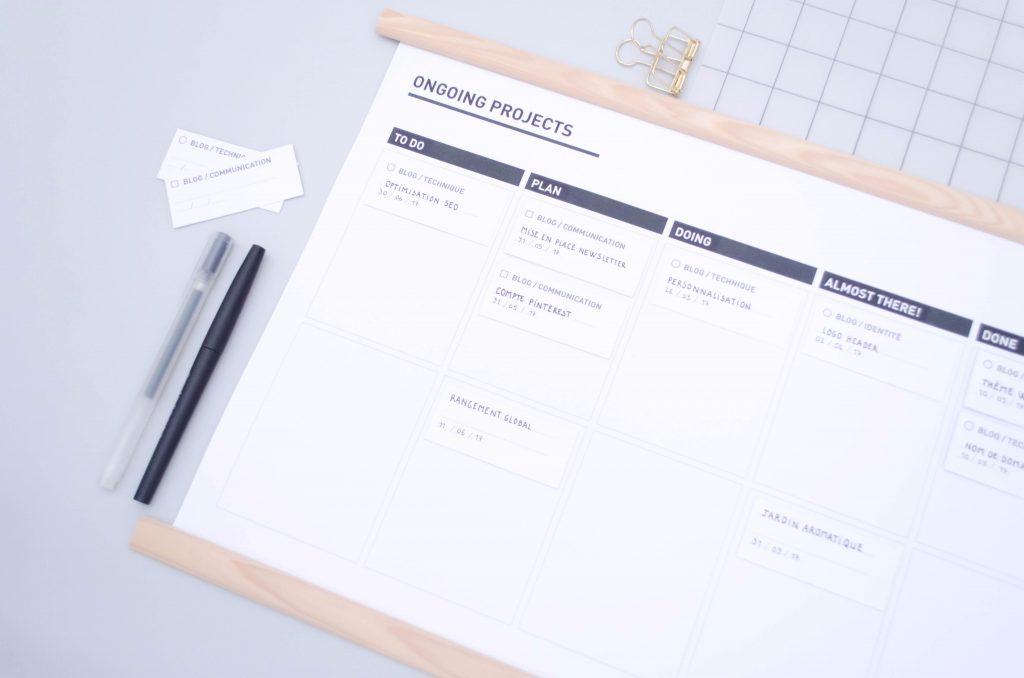 tableau kanban, gestion de projets