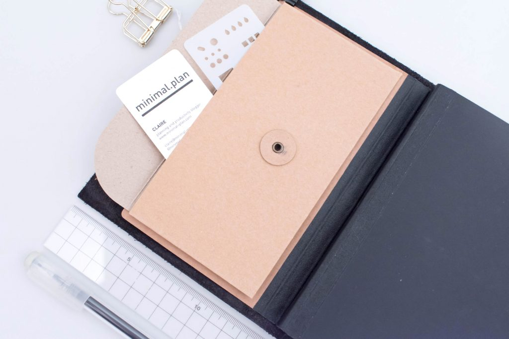 travelers notebook bullet journal, bullet journal TN, carnet traveler's notebook