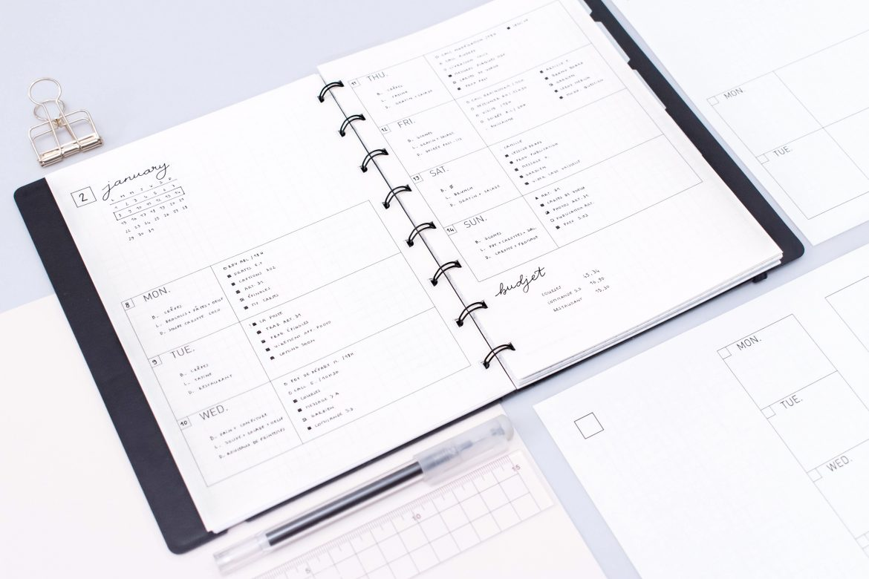 Weekly Planner 2018 Free Printables Minimal Plan