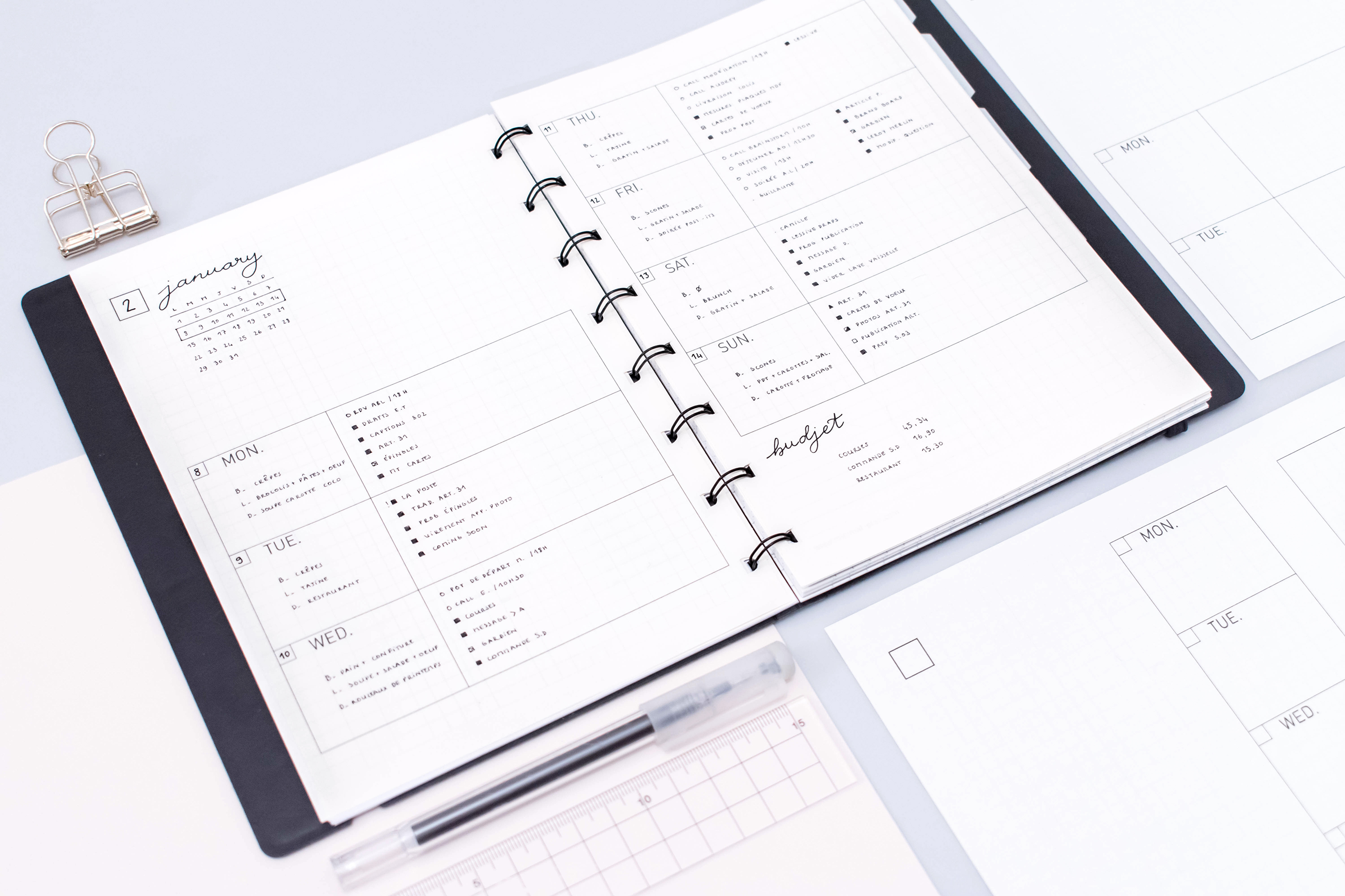 image about Printable Planners called Weekly planner: 2018 free of charge printables - Minimum amount.Software