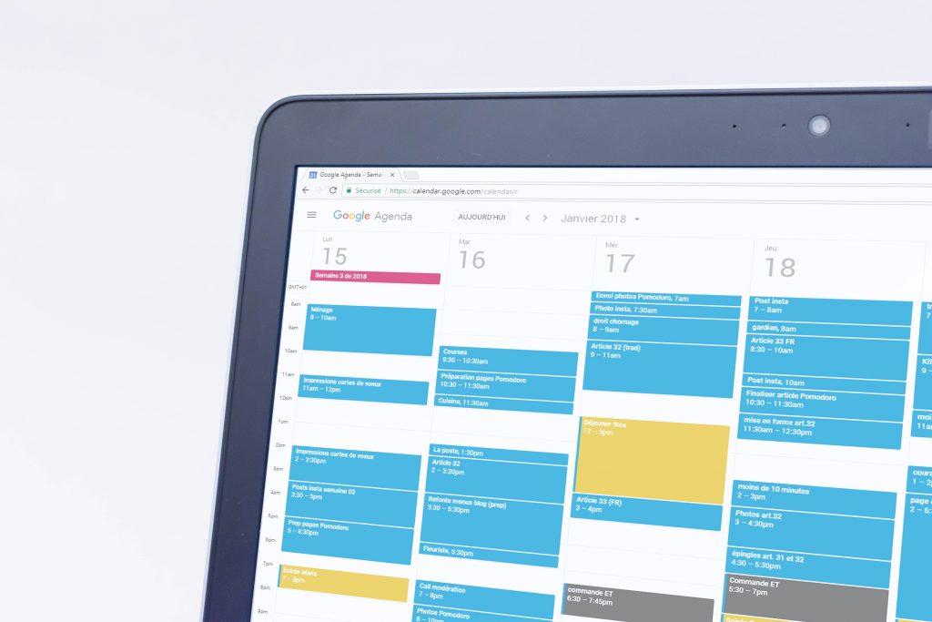 time blocking technique google agenda