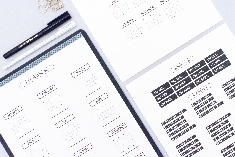 Mini Calendrier 2019 A Imprimer.Fichiers Gratuits 2019 Minimal Plan Plan Achieve Repeat