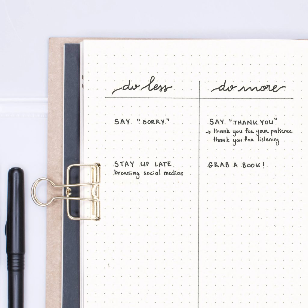 use the undo list to break bad habits