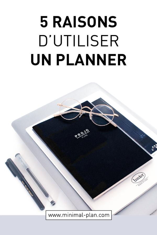 5 raisons d'utiliser un planner