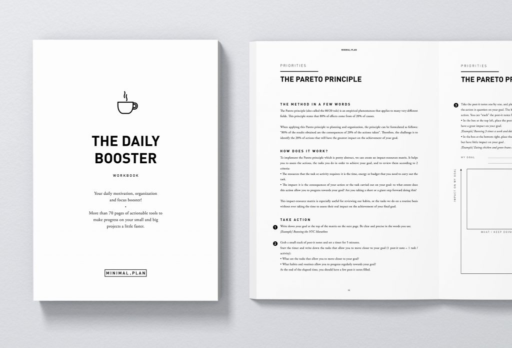 how to make progress on your projects, the daily booster