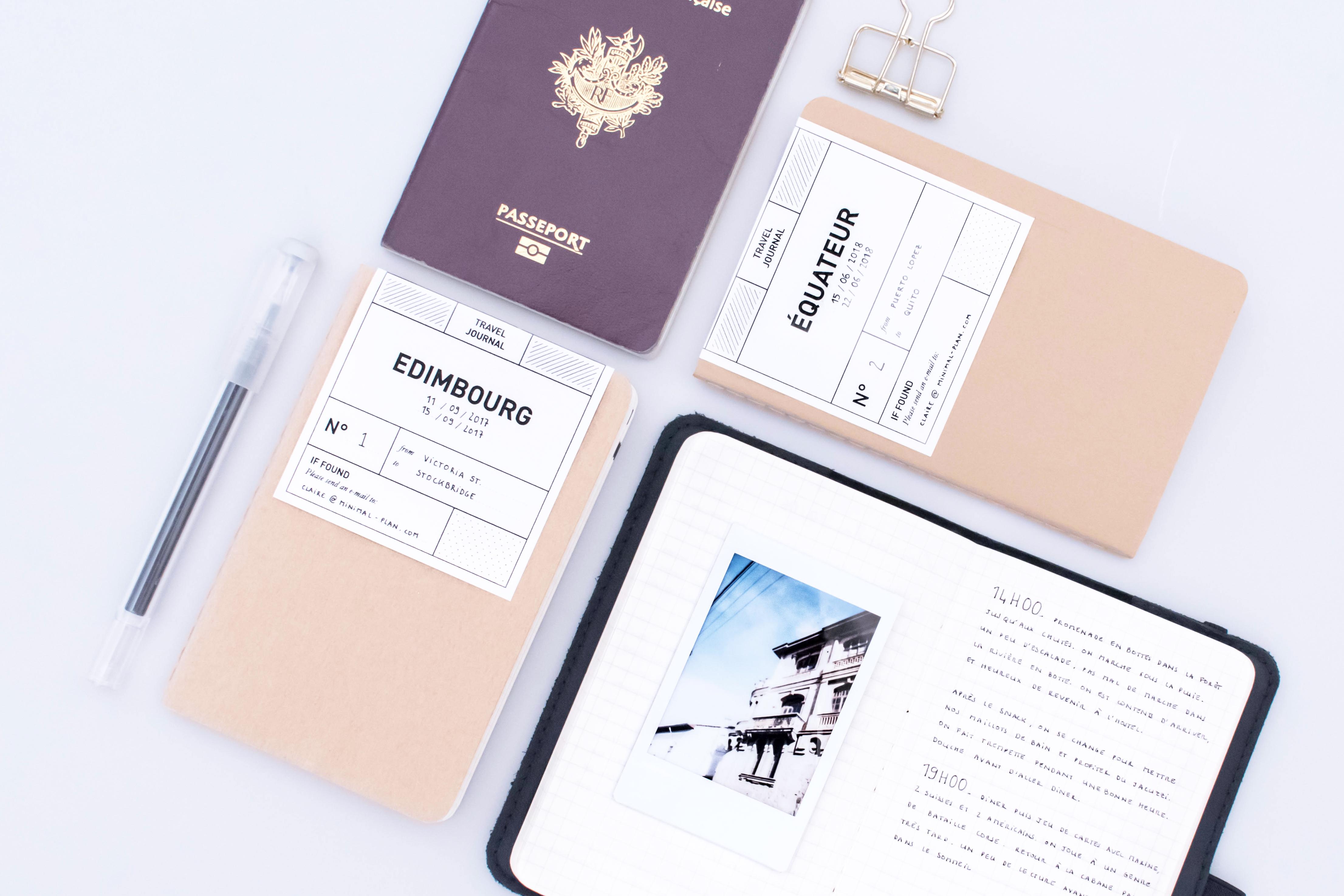 comment faire un carnet de voyage minimal plan. Black Bedroom Furniture Sets. Home Design Ideas